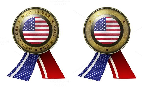 Set Of 2 USA Seals