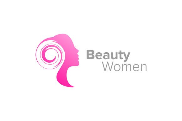 Beauty Woman Silhouette Logo