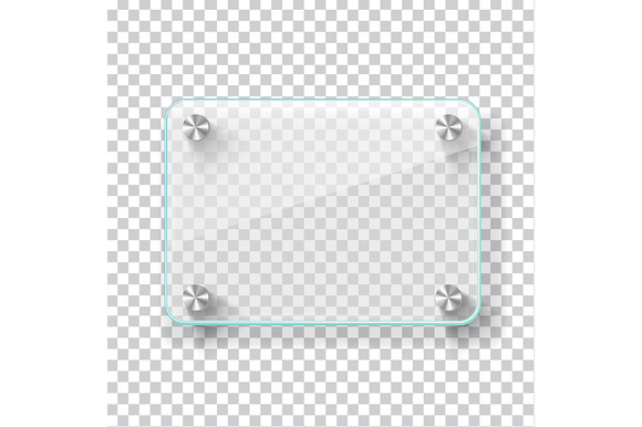 Realistic Transparent Glass Frame