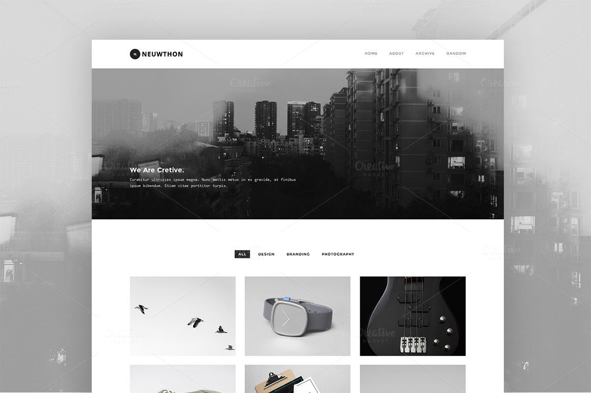 Neuwthon - Creative Portfolio Theme