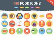 150 Funky Food Icons-Graphicriver中文最全的素材分享平台