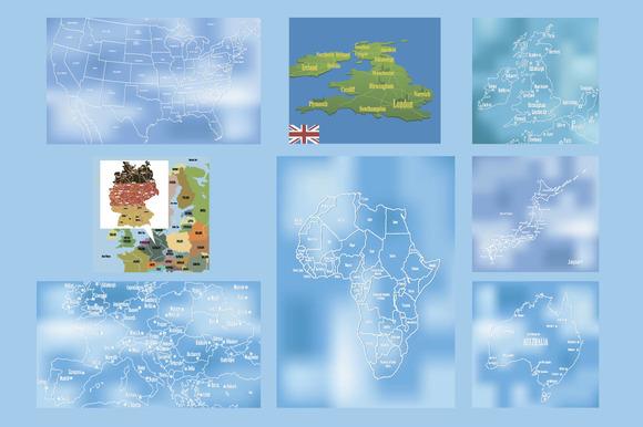 Set Of Vector Maps