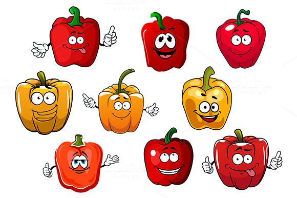 Orange And Red Bell Peppers