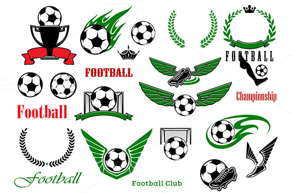 Football Or Soccer Sport Game Icons
