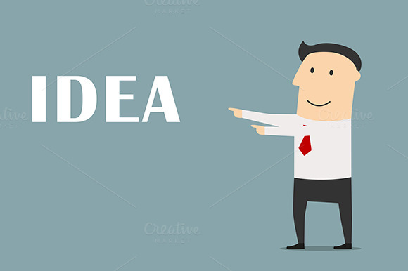 Businessman With Idea And Solution
