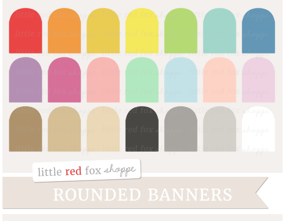 Rounded Banner Clipart