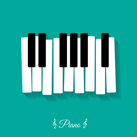 Piano. flat icon - Icons