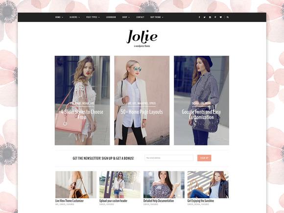 Responsive WordPress Theme - Jolie - Blog