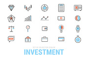 (Sale) Investment icon set.-Graphicriver中文最全的素材分享平台