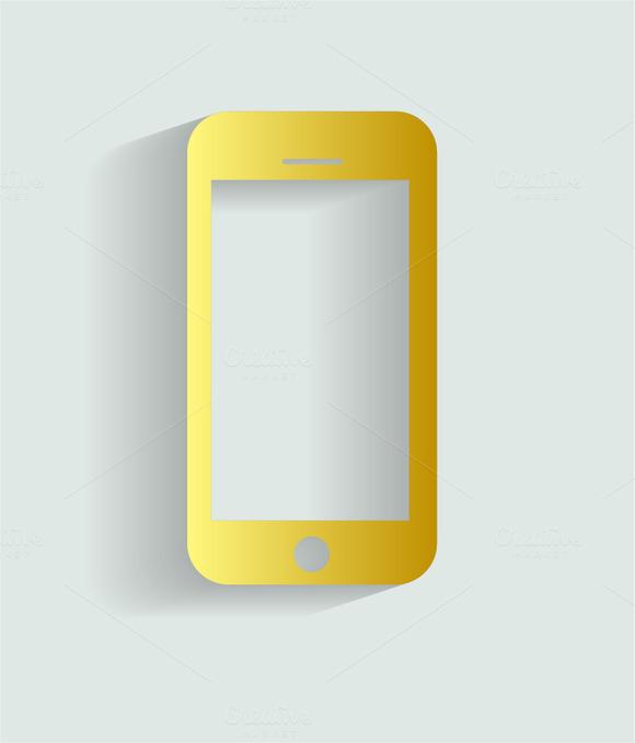 Smartphone Icon Gold