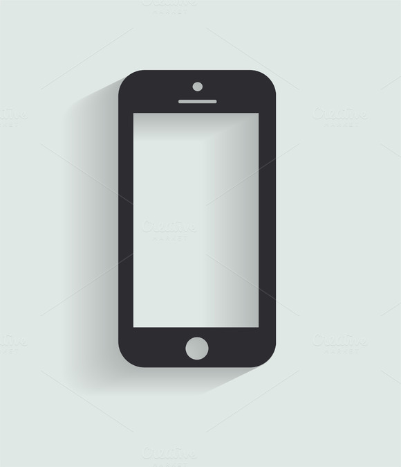 Smartphone Icon Black