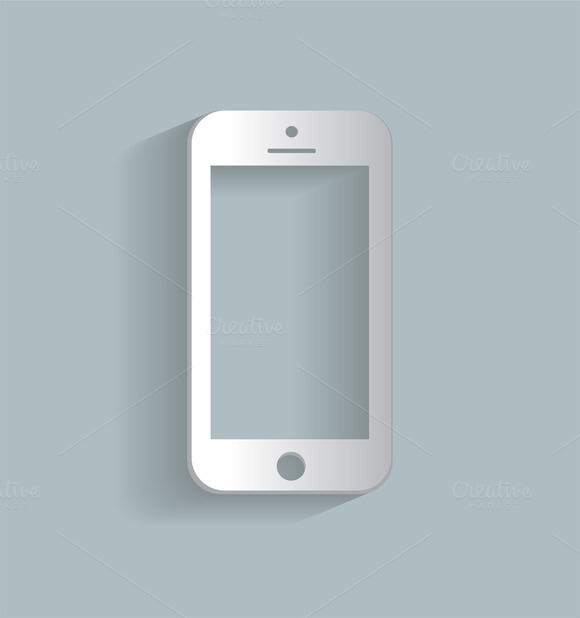 Smartphone Icon White