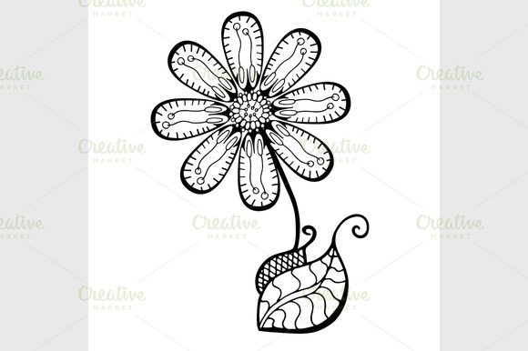 Sketch Of Abstract Flower