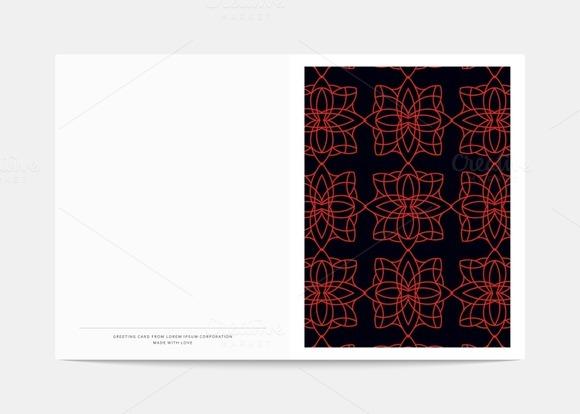 Geometric Design Postcard