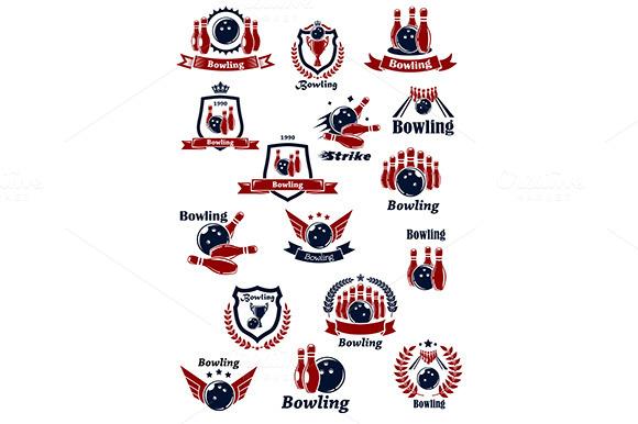 Bowling Club Or Tournament Icons