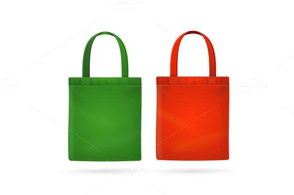 Fabric Cloth Bag Tote Vector