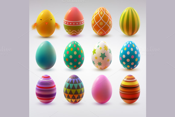 easter eggs pixels 150 400 wide tall realistic timeline creativemarket