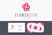 Flower logo and business ca-Graphicriver中文最全的素材分享平台