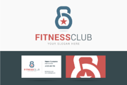Fitness club logo and busin-Graphicriver中文最全的素材分享平台