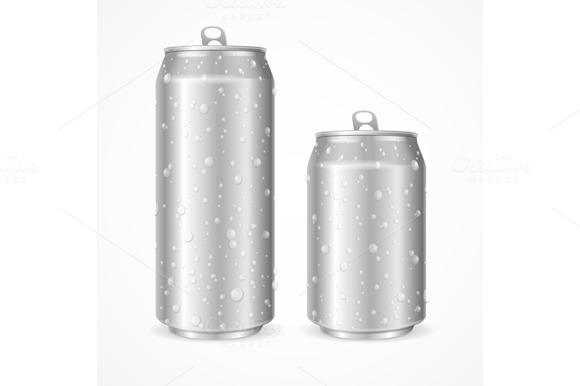 Wet Can. Vector - Illustrations