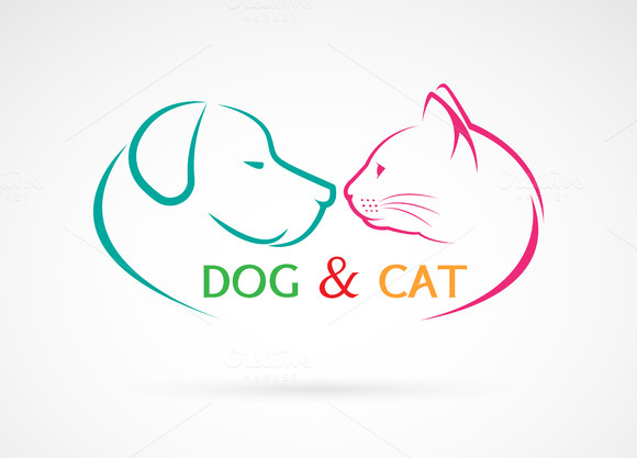 Vector Image Of An Dog And Cat