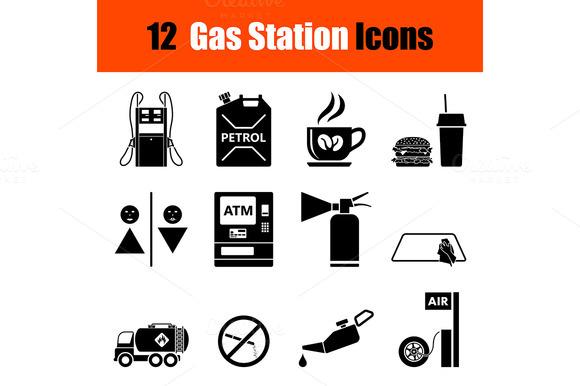 Set Of Petrol Station Icons