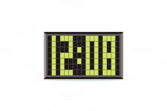 Clock Logo Icon Isolated. Watchv - Objects