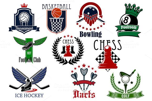 Sports Game Heraldic Emblems