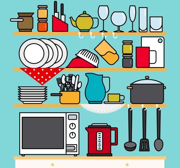 Line Kitchen Icons