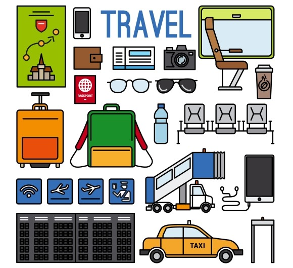 Airport And Travel Icons Set