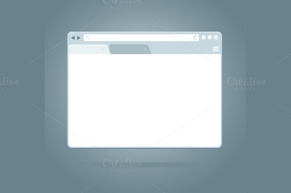 Simple Browser Window. Vector - Illustrations