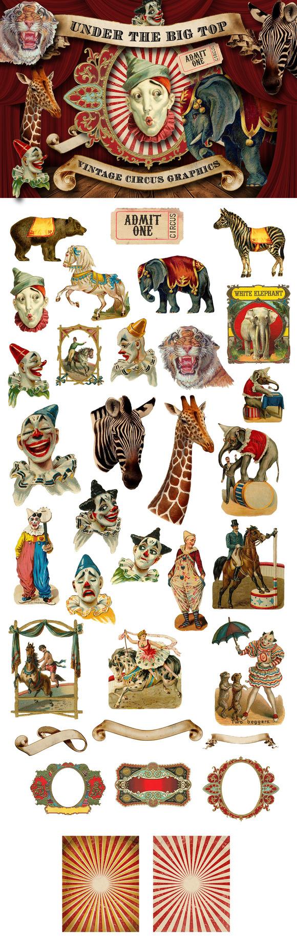 Vintage Circus Elephant Clip Art » Designtube - Creative ...