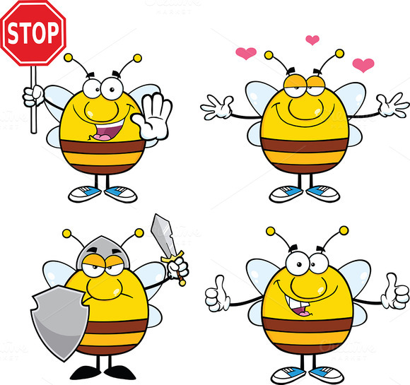 Bee Characters Collection 6