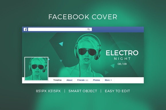 Facebook DJ Cover V4