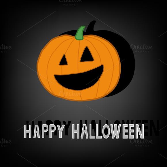 Happy Halloween Pumpkin Card