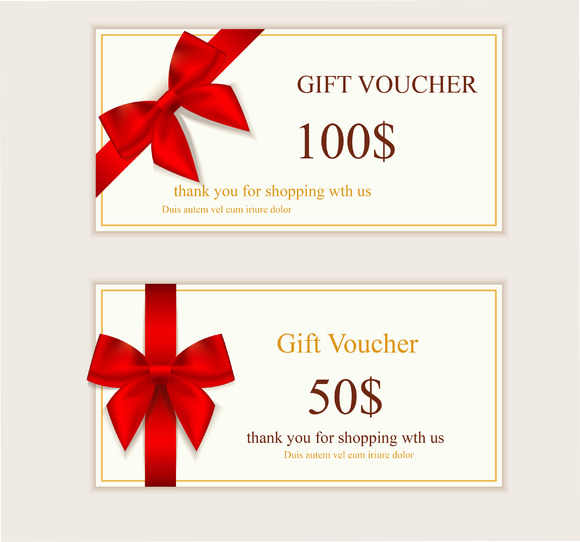 A Set Of Gift Cards