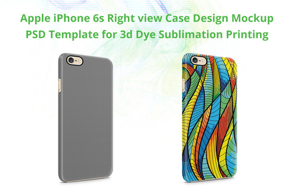 IPhone 6s 3D IMD Case Mockup Right