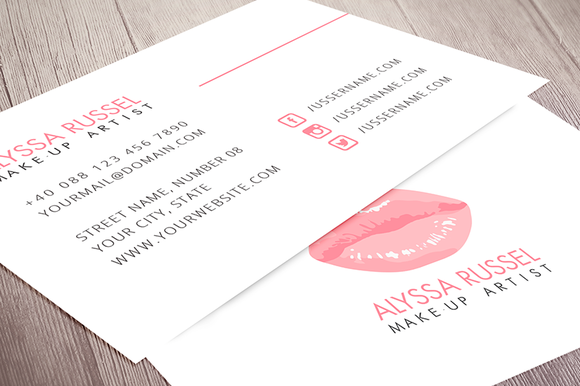 Creativemarket makeup artist business card 591763 heroturko introducing the brand new make up artist business card template perfect to promote and market your business reheart Choice Image