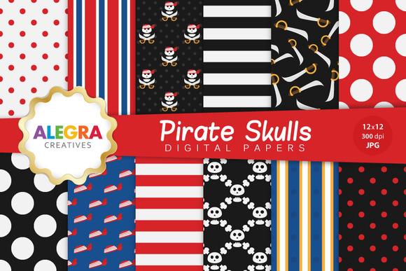 Pirate Skulls Digital Paper Pack