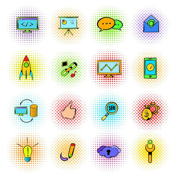 Seo Icons Comics