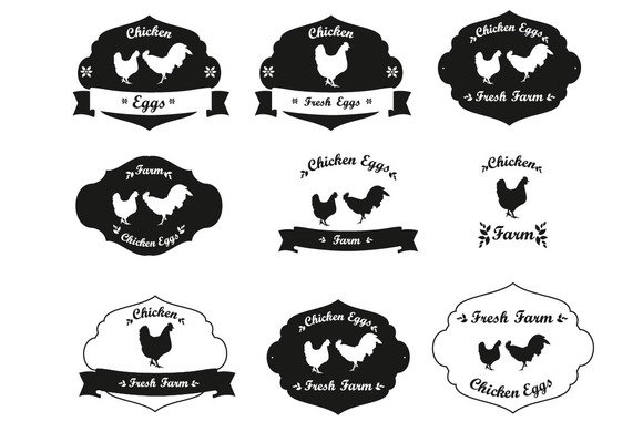 Chicken Farm Labels Collection