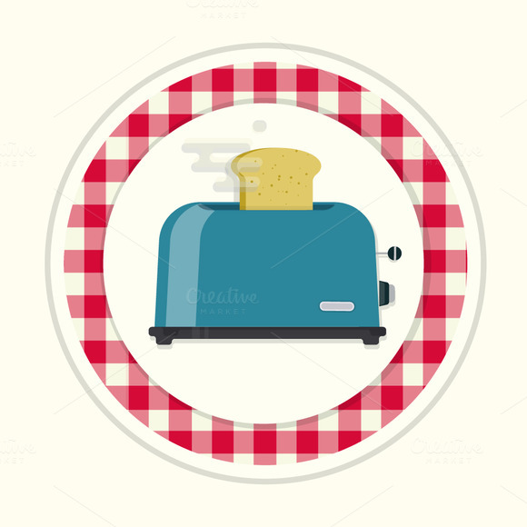 Toster. Vintage kitchen icon - Icons
