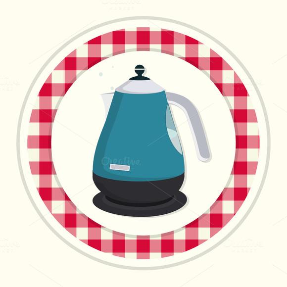 Kettle. Vintage kitchen icon. - Icons