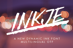 Inkje Italic Font