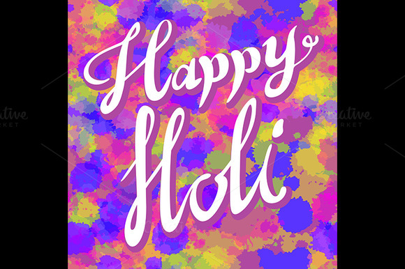 Indian Festival Of Colours Vector