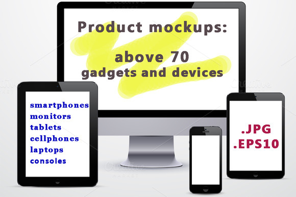 Above 70 Gadgets Product Mockups