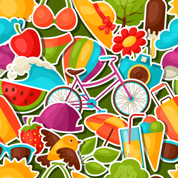 Patterns With Summer Stickers