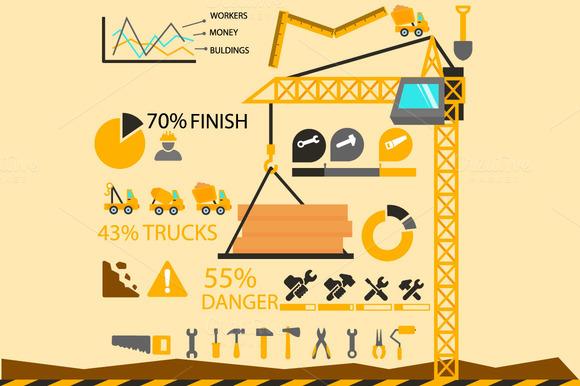 Construction Elements Infographics