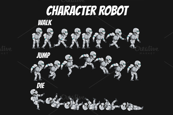 Character Sprite Robot .0 - Objects