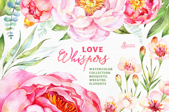 Love Whispers. Floral Collection - Illustrations